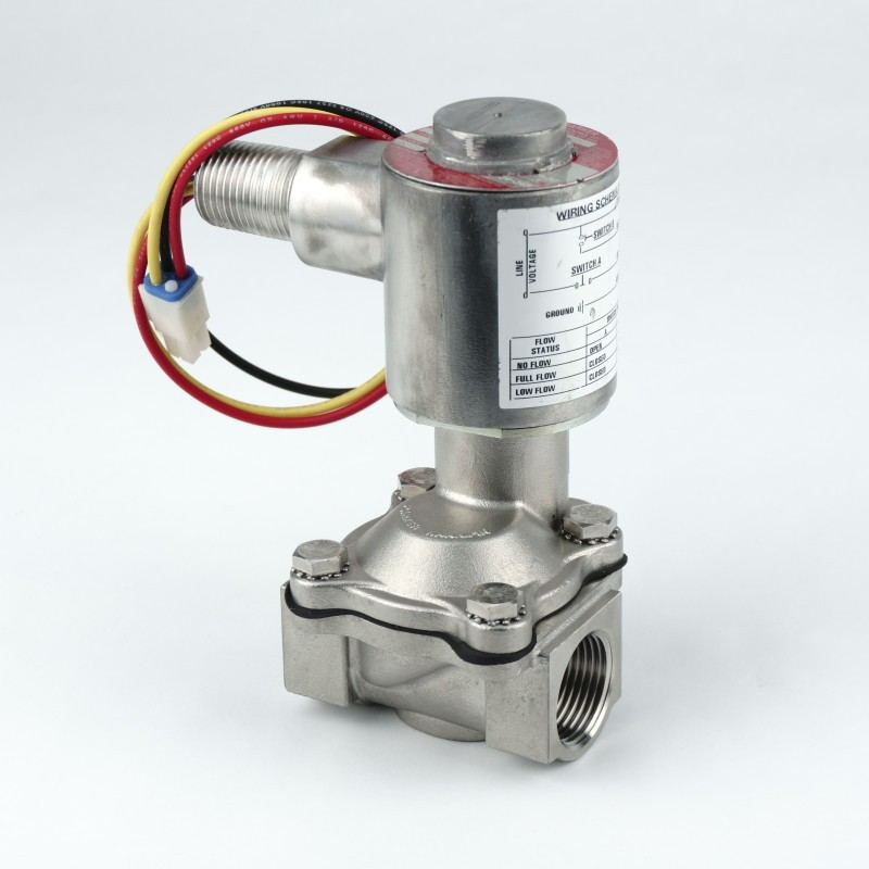 "PMP Gilbarco®  2-Stage Valve with coil for DEF, 3/4"" stainless steel. PMP 22090, OEM M02321A005, XLG202060C."