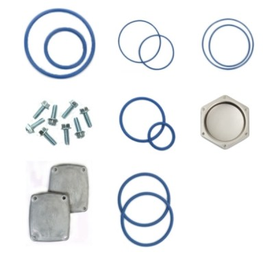 PMP Blue Fluorosilicone Seal & Cover Kit for Wayne® 2PM Meter. PMP 80101.